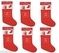 6 x PERSONALISED CHRISTMAS STOCKING ANY NAME BOY GIRL & LETTER TO SANTA POCKET
