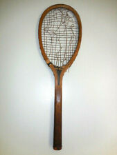 """Antique Wright & Ditson """"The Hub"""" Tennis Racquet. Made in USA-Oval wood type"""