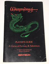 Wizardry I Game Fantasy Adventure Sir Tech Replacement Players Guide Apple 1987