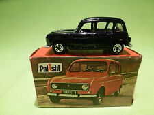 POLISTIL RJ22 RENAULT 4 - DARK BLUE - RARE SELTEN - IN GOOD CONDITION IN BOX