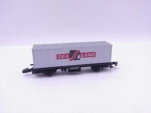 "90758 Märklin Mini Club 8616 Wagon Transport de Conteneurs avec "" Sealand "" Pour"