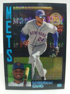 2019 Topps Series 2 Silver Robinson Cano #T84-5 1984 Black Refractor  8/199 Mets