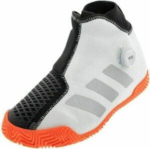 adidas Stycon Boa Mens Tennis Sneakers Shoes Black/Orange/White FU7933 Sz 7.5 US
