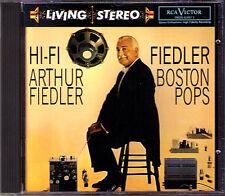 HI-FI FIEDLER Liszt Rossini Chabrier Tchaikovsky RCA LIVING STEREO CD Arthur