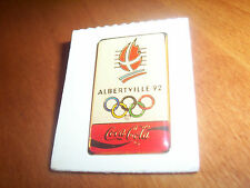 ALBERTVILLE '92 OLYMPICS Coca-Cola Winter 1992 Games France Coke Olympic Pin NEW