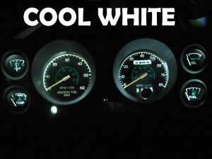 Gauge Cluster LED Dashboard Bulbs Cool White For Ford 79 86 Mustang