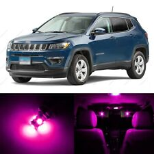8 x Pink LED Interior Light Package For 2007 - 2017 Jeep Patriot & Compass +TOOL