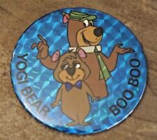 "1979 Yogi Bear and Boo Boo Hanna-Barbera ""Prism Glo"" Button Vintage VERY RARE!"