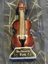 Vintage Beethovens Fifth Collectors Liquor Decanter Music Box (Plays!) Violin