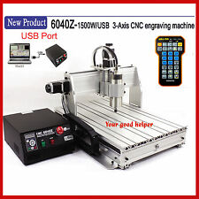USB 6040 1500W cnc router engraver engraving milling drilling cutting machine