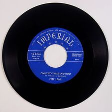 PETE LANE:One-Two-Three-Skid-Doo IMPERIAL Orig USA Country Honky Tonk 45