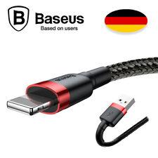 1M LIGHTNING USB Kabel Ladekabel für iPhone X 8 Nylon | Cafule | Strapazierfähig