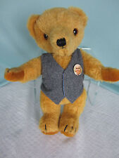 Ncc Merrythought Teddy Bear Mohair13 in tall Glass Eyes Sewn Nose Jointed Blond