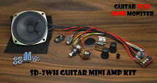 "TONE MONSTER SD2WH Guitar Amp Amplifier KIT 2W 9V Volume Gain 3"" SPK Cigar Box"