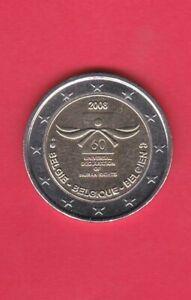 PIÈCE 2 EURO COMMÉMORATIVE BELGIQUE 2013 100 ANS INSTITUS METEO  EXCELLENT ETAT