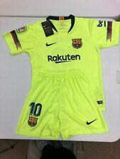 Nike Fc Barcelona 18-19 Messi #10 Soccer Jersey Volt + Shorts