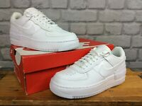NIKE LADIES AIR FORCE 1 SHADOW TRIPLE WHITE TRAINERS RRP £95 T