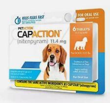 CapAction Oral Flea Treatment Small Dog, 6ct New/Sealed box