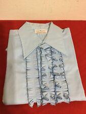 70's Vintage Lion Of Troy Medium Blue Ruffle Shirts! BRAND NEW!(Permanent Press)