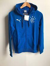 Rangers FC PUMA Women's Fashion Full Zip Sweat à capuche-Petit (UK 10) - Bleu-Neuf