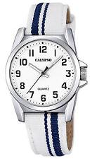 Reloj Niños Calypso Junior Collection K5707/1 de Tela/ cuero Blanco