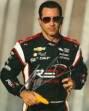 Helio Castroneves signed 8x10 photo Irl Indy with Coa B