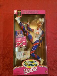 Olympic Gymnast 1996 Barbie Doll nrfb