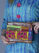 Women Fashion Bag Roan Leather Clutch Messenger Handbag Coin Purse Wallet Indian