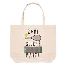 Juego Slurp y combinar grandes Playa Bolso-Gracioso tenis Shopper Hombro