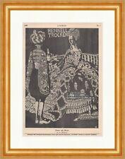 Dame mit Mohr A. v. Salzmann Henkell Trocken Sekt Kleid Diener Hirth Jugend 1470