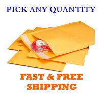 "4""x8"" Kraft Self Seal Bubble Mailer Padded Envelope, #000 4x8 inch 25,50,100,500"