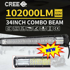 1x34inch CREE LED Work LightBar Spot Flood OffRoad Driving For RAM1500/2500/3500