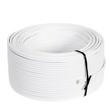 50 m Ring 99,99% OFC Kupfer Lautsprecherkabel weiß  2 x 1,5 mm²  Made in Germany