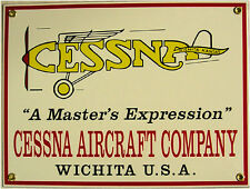 Cessna Aircraft Company Airplane Vintage Aviation Porcelain Metal Sign