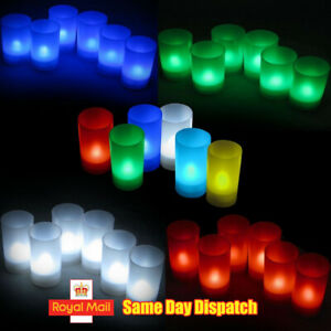 Flameless LED Battery Tea Lights (6PK) with Cup Holder, Weddings, Parties LEC008