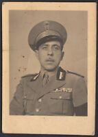 YZ0398 Militaria 1940 - Ritratto di un Ufficiale - Fotografia d'epoca - Photo
