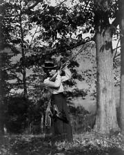 Fascinating... Early 1900's Woman Hunting Pheasants ... Antique 8x10 Photo Print