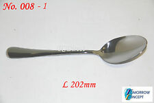 12x Cafe Cutlery Stainless Steel Table Spoon L202mm #008-1