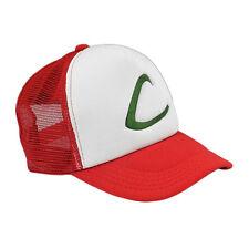 Pokemon Ash Ketchum Red Hat Cap Trainer Cosplay Fancy Dress Halloween Costume