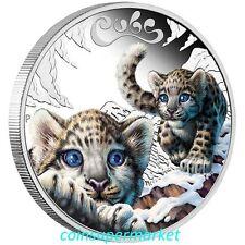 2016 Australia The Cubs – Snow Leopard 1/2oz Silver Proof Coin Perth Mint OGP!!!