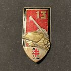 Original French 13th Regiment Armor Engineers Badge Enameled Indochina