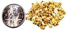 ALASKAN YUKON BC NATURAL PURE GOLD NUGGETS #10 MESH 0.025 TROY OZ OR 0.780 GRAMS