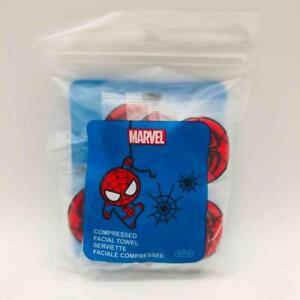 New/Sealed 10-Pack Marvel Spider-Man Insignia Compressed Magic Facial Towels