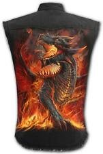 Spiral Direct DRACONIS - Sleeveless Stone Washed Worker Dragon/Flames/Wings