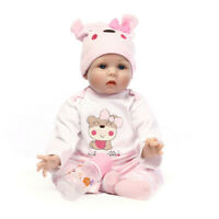 Handmade Cute Lifelike Soft Body Doll Toy Silicone Reborn Babies Girl Doll