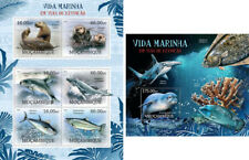 Marine Animals Seals Dichtungen Sharks Fishes Fauna Mozambique Mnh Stamp Set Topical Stamps
