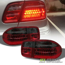 Red Smoke 1996-2002 Mercedes-Benz W210 E300 E320 E430 LED Tail Lights Lamps Pair