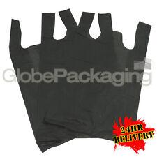 """2000 Negro Plástico De Gran Tamaño Chaleco Portador Bolsa para Botella Bolsas de Compras 8""""X13""""X18/"""""""