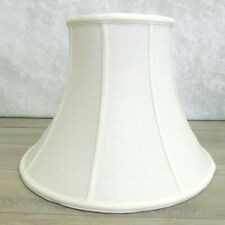 LAMPSHADE Deluxe 18 BELL Off-White Silk Fabric Spider Fitter Lamp Shade