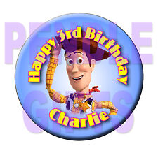 WOODY - Toy Story - BIRTHDAY BADGE - 58mm -  any name and age